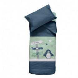 Parure Housse de couette + taie d'oreiller Pingou