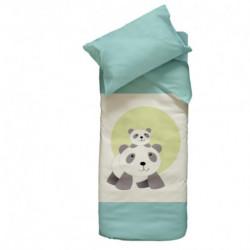 Parure Housse de couette + taie d'oreiller Panda
