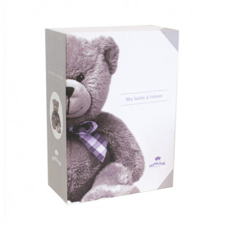 """Coffret """"Boîte à souvenirs"""" + journal de naissance My little bear"""